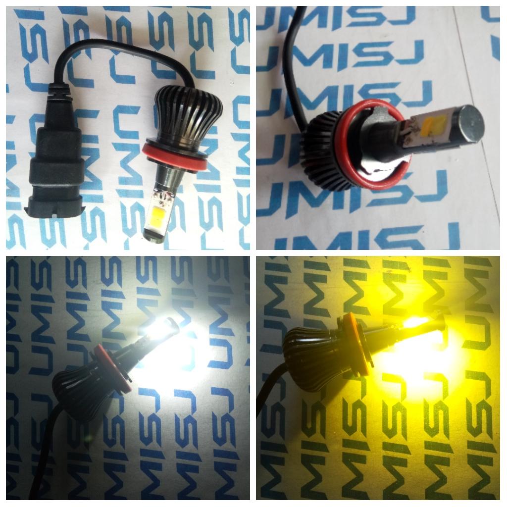 Lampu Led H11 H8 Dual Colour Putih Kuning Umisjogja