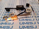 led headlamp 3 sisi dengan pendingin kusus sejenis serabut alumunium