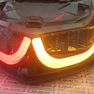 Lampu Stoplamp Nmax Rasa Xmax Dengan Drl Dengan Sein Running