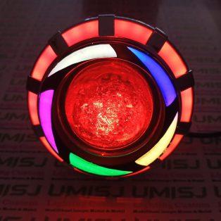 Lampu Utama Projie Led Dengan Variasi Lampu Angel Eye Dan Demon Eye