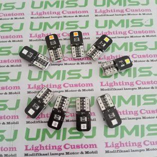 T10 Canbus 1 Mata Bisa Untuk Lampu Kota Sein Rem Untuk Semua Motor